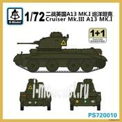 PS720010 S-Model 1/72 Cruiser Mk.III A13 MK.I