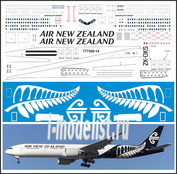 777300-14 PasDecals 1/144 Декаль на Boing 777-300 Air New Zeland