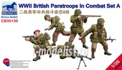 CB35130 Bronco 1/35 WWII British Paratroops In Combat Set A