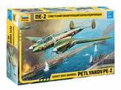 7283 Zvezda 1/72 Soviet diving bomber Pe-2