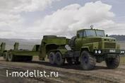 85523 HobbyBoss 1/35 Танковый тягач КРАЗ-260Б с полуприцепом  МАЗ/ЧМЗАП-5247Г