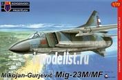 KPM0051 Kovozavody Prostejov 1/72 MIG-23 M/MF Cuba, India, USSR