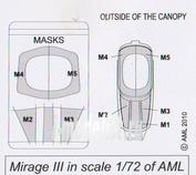 AMLK 72 004 AML 1/72 Mirage IIIC Canopy and Masks