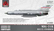 J72083 KPModels 1/72 MiG-21R Recon