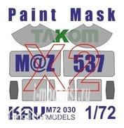 M72 030 KAV Models 1/72 Окрасочная маска на остекление МаЗ-537 (Takom) ДВОЙНОЙ набор