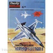MM 6/1999 Maly Modelarz Бумажная модель Northrop F-5 E Tiger II