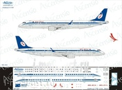 195-006 Ascensio 1/144 Декаль на самолет Embraer 195 (Belavia)