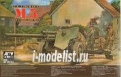 AF35181 AFVClub 1/35 M5 105mm Howitzer on M6 Carriage