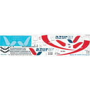 763-015A Ascensio 1/144 Decal for 767-300, Azur (RA-73034)