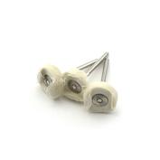 2102 JAS Диск полировочный, белый, ткань, 22 мм, 3 шт./уп., блистер
