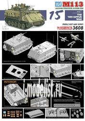 3608 Dragon 1/35 Бронетранспортер IDF M113 APC Йом Киппур
