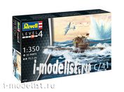 05154 Revell 1/350 Подводные лодки типа VII C/41