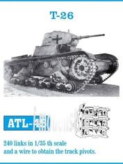 Atl-35-45 Friulmodel 1/35 Траки сборные железные для T-26