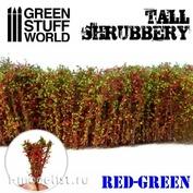 9929 Green Stuff World Высокий кустарник - красно-зеленый / Tall Shrubbery - Red Green
