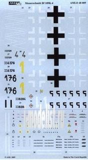 AMLD 48 009 AML 1/48 Декаль и набор дополнений Messerschmitt Bf 109K-4, Part II
