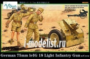 VM35007 Vision Models 1/35 German 75mm leIG18 Infantry Gun w/Crew