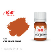 C1016 ICM Paint for creativity, 12 ml, color Transparent orange (Clear Orange)