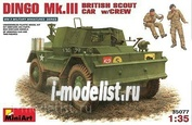 35077 MiniArt 1/35 Dingo MK.III British reconnaissance vehicle with crew