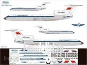 Т5М-001 Ascensio 1/144 Декаль на самолет Туплев Т-у-154М (Арофлот Clasic 80-90х)