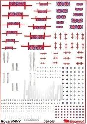 350005 Begemot 1/350 Декаль ВМФ Великобритании