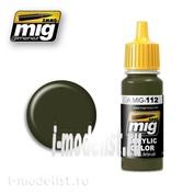 AMIG0112 Ammo Mig Acrylic paint SCC 15 (BRITISH 1944-45 OLIVE DRAB) (olive main, 1944-45, UK), volume 17 ml.