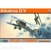 7021 Eduard 1/72 Биплан Albatros D. V (две модели в одной коробке)