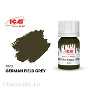 C1070 ICM Краска для творчества, 12 мл, цвет Немецкий серо-зеленый (German Field Grey)
