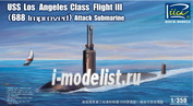 RN28007 Riich 1/350 USS Los Angeles Class Flight III (688 Improved) Attack submarine