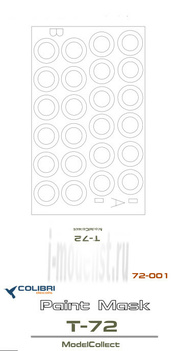 M72001 ColibriDecals 1/72 Mask for T-72 (ModelCollect)