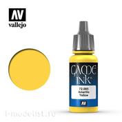 """72085 Vallejo Краска акриловая """"Game Color"""", Чернильный жёлтый"""