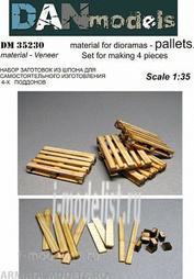 DM35230 DANmodel 1/35 Европоддоны. Набор для изготовления 4 шт материал - шпон