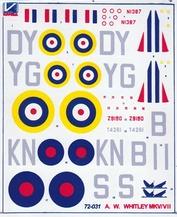 72031 Kanga 1/72 Декаль на самолет Armstrong Whitworth