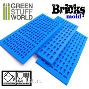 1507 Green Stuff World Силиконовая форма для создания кирпичей 3 шт / Silicone molds - BRICKs