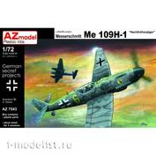 AZ7543 AZ Model 1/72 Самолет Bf 109H-1