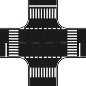 60712 Noch  Перекресток, цвет черный 22*22 см