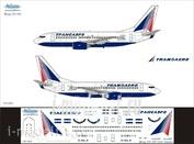 737-005 Ascensio 1/144 Декаль на боенг 737-700 (Transaero)