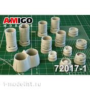 AMG72017-1 Amigo Models 1/72 Tu-128 Jet Nozzles AL-7F
