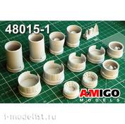 AMG48015-1 Amigo Models 1/72 MiGG-25RB / RBT Jet Engine Nozzles R15B-300
