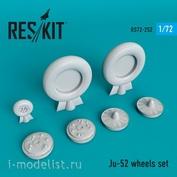 RS72-0252 RESKIT 1/72 Cмоляные колёса для Ju-52