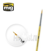 AMIG8611 Ammo Mig 3/0 SYNTETIC ROUND BRUSH