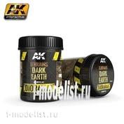 AK8018 AK Interactive Terrains Dark Earth 250ml (Dark dirt)