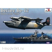 1438 Amodel 1/144 Aircraft Beriev Be-12 Nato code