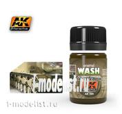 AK300 AK Interactive Смывка для нанесения эффектов DARK YELLOW WASH (смывка для тёмно-желтого)