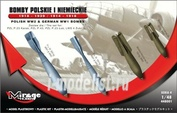 448001 Mirage Hobby 1/48 POLISH WW2 & GERMAN WW1 BOMBS 1918 - 1939 & 1914 - 1918