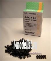 Mc135016w MasterClub 1/35 Track teams (resin) T-34 550mm M1940 Initial