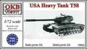72015 OKB Grigorov 1/72 USA Heavy Tank Т58