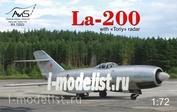 72022 Avis 1/72 La-200 with Toriy radar