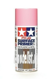 87146 Tamiya Грунтовка-спрей (розовая) Fine Surface Primer L for Plastic & Metal (Pink) Spray