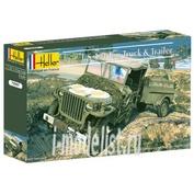 79997 Heller 1/72 US 1/4 Ton Truck & Trailer