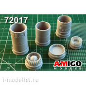 AMG72017 Amigo Models 1/72 Суххой-7, Суххой-9, Суххой-11 Реактивное сопло двигателя АЛ-7Ф